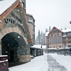 Snow in the village at Northstar. Photo:Northstar/Facebook
