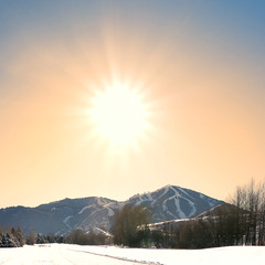 Sun Valley enjoys sunshine in the winter.  Photo courtesy of Visit Sun Valley.