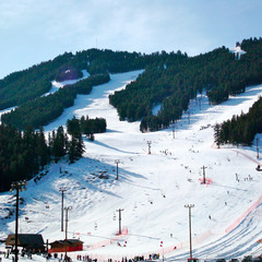 Snow King is the Jackson, Wyoming ski racing mountain. Photo by Jen/Flickr.