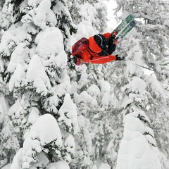 Kye Petersen at Island Lake Catskiing.