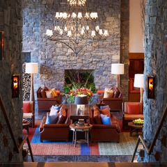 Main Lobby view from Hourglass Bar. - ©Stowe Mountain Lodge