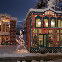 The North Pole comes to life at the Christmas Village in Ogden, UT every winter