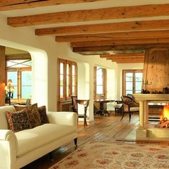 Chalet Eugenia, Davos - living area - ©The Oxford Ski Company