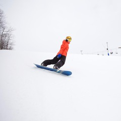 A snowboarder enjoys some mid-winter turns. Photo Courtesy of Wisp Resort.