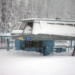 Early season snowfall at Mt. Washington. Photo courtesy of Mt. Washington Alpine Resort.