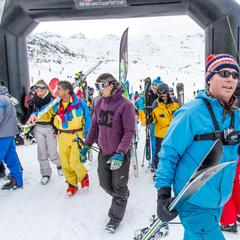 First skiers of the 2012/13 ski season in Val Thorens