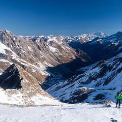 Aufstieg zum Col d'Aussois, im Hintergrund Mont Blanc - ©Iris Kürschner