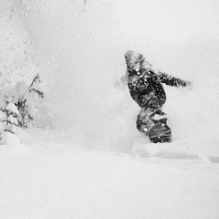 Cold smoke at Sun Valley with Wyatt Caldwell.