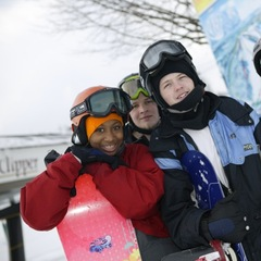 Smiling faces at Crystal Mountain, MI.
