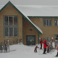 Blacktail Mountain's lodge sits at the summit where skiing starts. Photo by Becky Lomax.