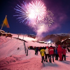 Feu d'artifice à Valmorel
