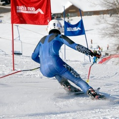 Ski racing at Nub's Nob.