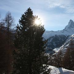 Skifahren in Zermatt am Matterhorn