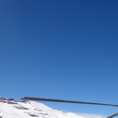 The chopper in Valle Nevado.