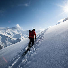 Infinite ski touring area