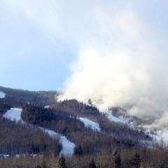 With such cold temperatures, any snowmaking efforts across the region, like the one shown here by Sunday River, will be very productive.