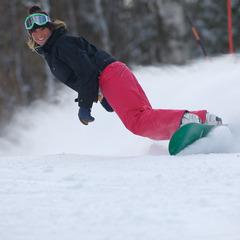 Snowboarderin in Mount Sunapee