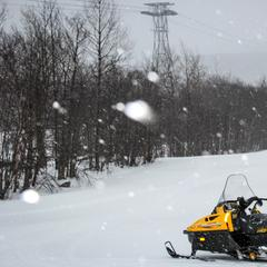 The snow has already started to come down at Jay Peak Resort.