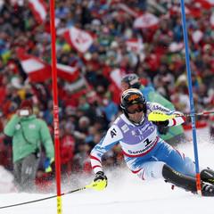 Le bronze pour Mario matt / Slalom Schladming 2013 - ©Alexis Boichard / Agence Zoom