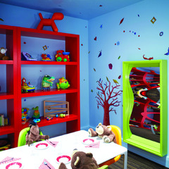 The tykes playroom at the Dancing Bear development in Aspen, Colorado.