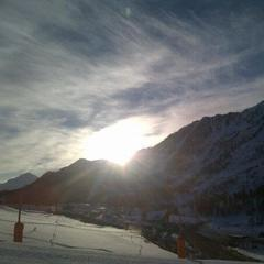 Sunrise in Montgenevre, March 10, 2013