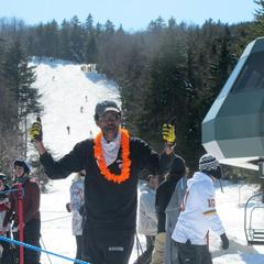 Snowshoe fans are pumped for a long spring season. Photo Courtesy of Snowshoe Mountain Resort.