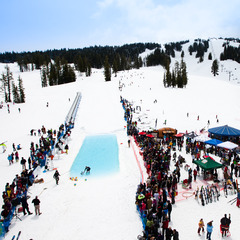 Pond skimming at Mt. Bachelor. - ©Courtesy of Mt. Bachelor
