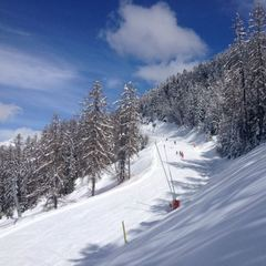 Sun and fresh snow at Saint Léger les Mélèzes