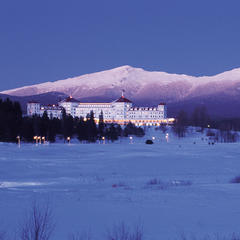 Mount Washington and the Presidential Range makes a stunning backdrop. Photo Courtesy of the Omni Mount Washington Resort.