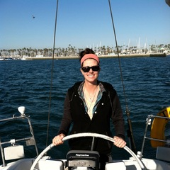 Sailing my Aunt and Uncles boat off the coast of Huntington beach. - ©Molly Garland