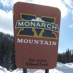 Monarch Mountain sign
