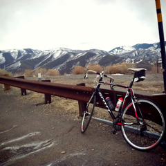 My first bike ride of the season in Salt Lake.