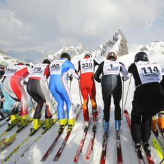 White Thrill race: before the mass start at Arlberg's Valluga crest.