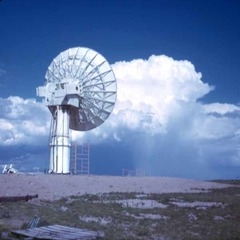 Weather radar sits on the ground and scans the lower atmosphere looking for precipitation.
