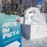 """Arte in pista"" in Alta Badia con le sculture di neve - © Alta Badia Facebook"