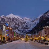 Main street Telluride for the holidays - © Visit Telluride/Ryan Bonneau