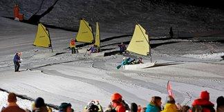SYBELLES'OPTIMIST : le mariage de la voile et de la neige ©TMM Le Corbier / Pascal Alemany
