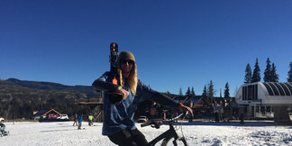 Purgatory Kicks off Ski Season Saturday with both Skiing & Mountain Biking - the total Colorado Mountain Experience! ©Kim Oyler