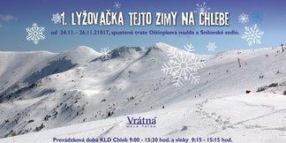 Prvá lyžovačka tejto zimy už v piatok vo Vrátnej! ©Vrátna dolina facebook