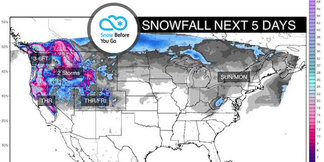 1.25 Snow Before You Go: 3-6 Feet for Parts of West ©Meteorologist Chris Tomer
