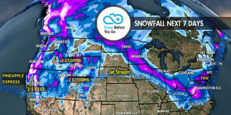 3.22 Snow Before You Go: Pineapple Express & Heavy Snow West ©Meteorologist Chris Tomer