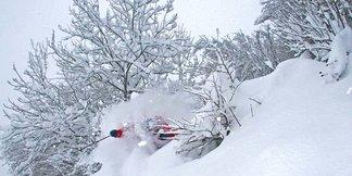 Conditions de ski exceptionnelles dans les Alpes
