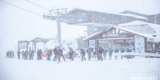 Zdjęcia z Alp: spadło do 75 cm śniegu! - ©Meribel Coeur des 3 Vallees   Facebook