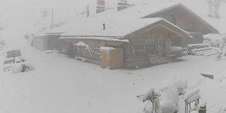 Front Inge prináša do Álp sneženie ©Webcam Engelberg-Titlis