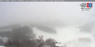 Prima neve in Abruzzo! 22 Ottobre 2018 - © Ovindoli Monte Magnola Facebook