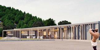 Salamandra Resort: Výstavba novej multifunkčnej budovy pri dojazde zjazdovky ©Salamandra Resort