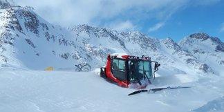 Schneemengen en masse (November 2019) - © Facebook Stubaier Gletscher
