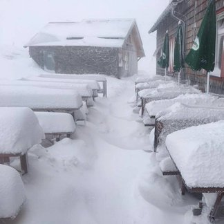 Snowfall in the Alps Sept. 20, 2017 - © Facebook Schladming-Dachstein