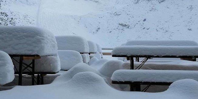 První sníh v Alpách (8.9.2019) - © Facebook Meteo-alps