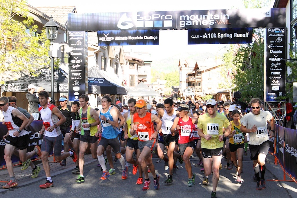 It was a fast start on Sunday morning for the 10k. - © Tim Shisler